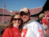 Kristen and Josh football game