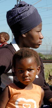 South African mom and child