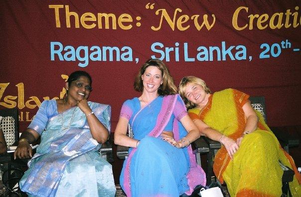 Prati, Christine and Belinda in Sri Lanka