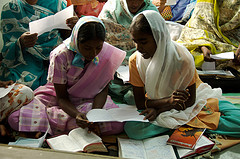 Women studying their Bibles