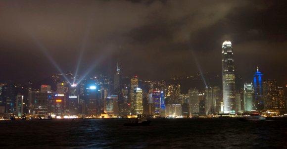 Hong Kong laser light show