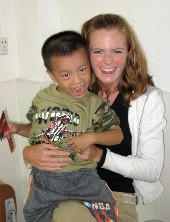 Kristen and Chinese boy