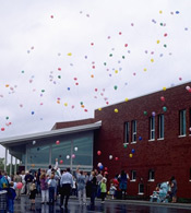 Indiian Creek building balloon launch