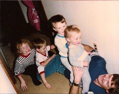 Kendall Kids Romp on Dad