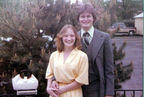 Gary & Belinda Kendall--Outside 1st ChurchofGod Easter 1981