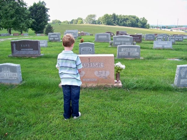 Gabriel visiting great grandfather's gravesite soon to also be his sister's.