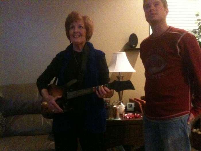 Grammie Ruthie is a Guitar Hero
