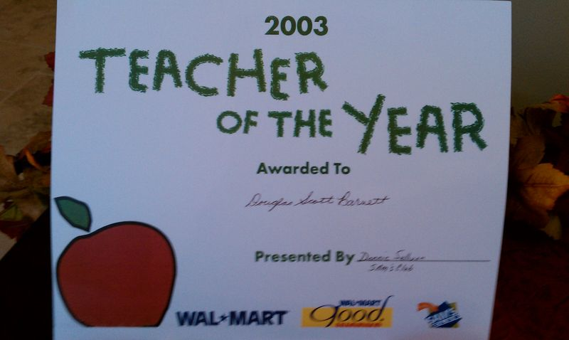 Even Wal-Mart recognized a great teacher!