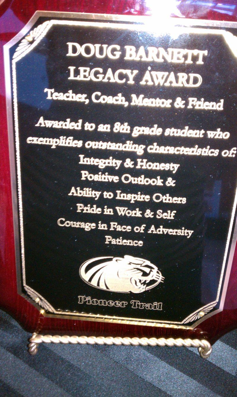 Doug left a legacy of coach mentor friend