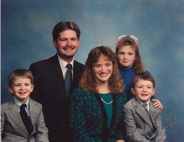 Family portrait without our Megan 1989