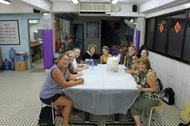 Team around table