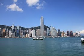 Hong Kong Harbor on a clear day