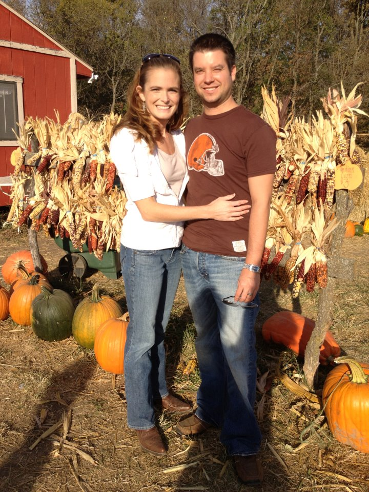 Josh and Kristen at the Pumpkin Patch
