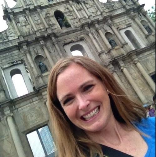 Kristen at Church Ruins in Macau 2012